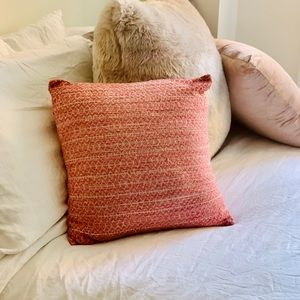West Elm- Pink CrissCross Pillow Cover